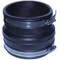 Fernco 1060 Flexible Pipe Coupling, 3 in x 3.97 in, Plastic Socket, 4.3 psi, PVC