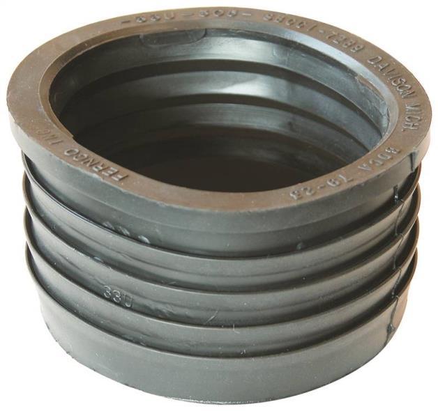 Fernco 33U-305 Compression Donut, 3 X 3 in, SV X Hub, SCH 40, 4.3 psi, PVC
