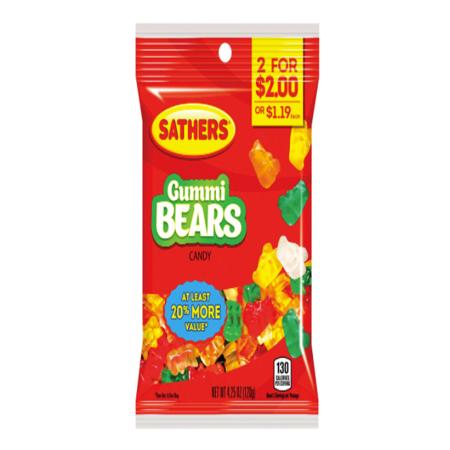 CANDY GUMMI BEARS 4.25OZ