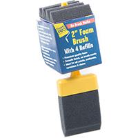 FoamPRO 72-4 Refillable Paint Brush With (4) Refills, 2 in Width, Foam