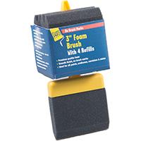 FoamPRO 73-4 Refillable Paint Brush With (4) Refills, 3 in Width, Foam
