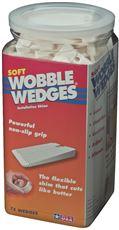 FOCUS 12 WOBBLE WEDGES�, SOFT, WHITE, 75 PACK