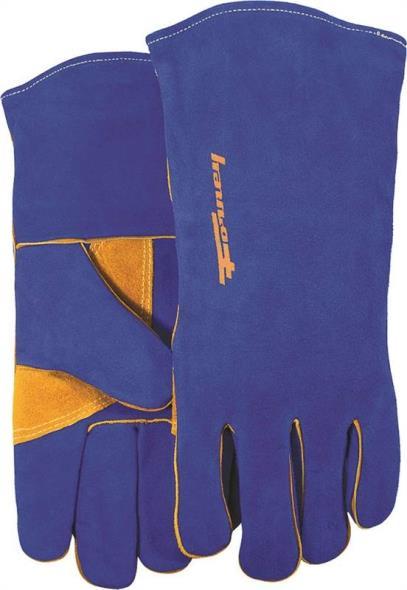 Forney 53422 Industrial Premium Welding Gloves, Men?s, Large, Kevlar, Blue, Cotton Interlock Lining