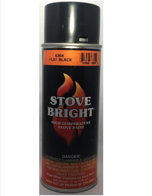 Flat Black Stovebright Paint, Matches Thurmalox Low-sheen Black Paint
