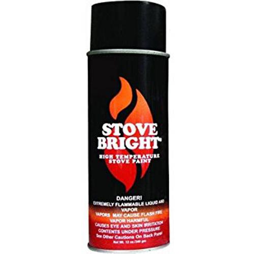 Metallic Black Stovebright Stove Paint