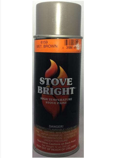 Metallic Brown Stovebright Stove Paint