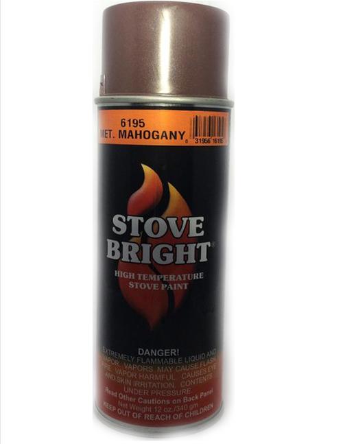 Metalic Mahogany Stovebright Stove Paint