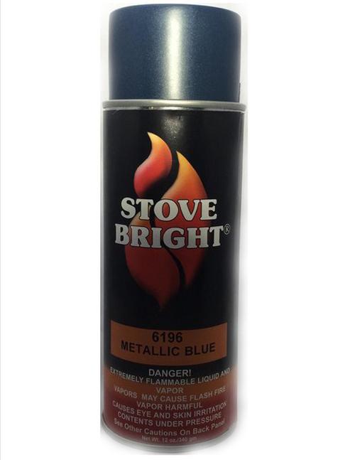 Metallic Blue Stovebright Stove Paint
