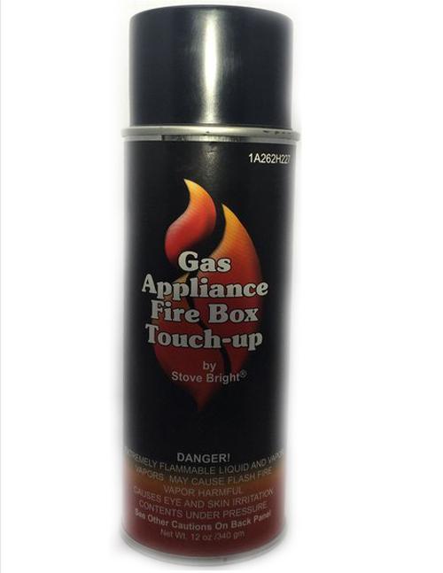 Black Gas Appliance Firebox Paint