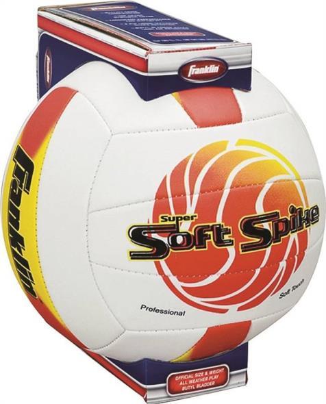 Franklin Super Soft Spike Volley Ball, Butyl Bladder, Assorted