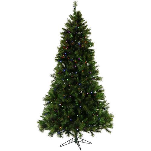 Christmas Time 7.5' Penn Pine, Green Tree, Mlti LED Lght, EZ Cnct,Remote