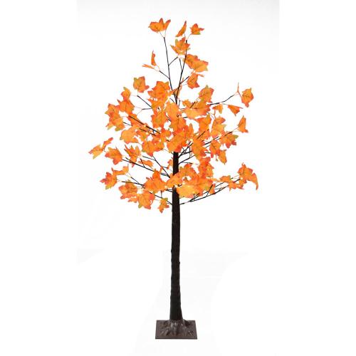 5.0' Maple Leaf Harvest Tree w/ WW LED Lights