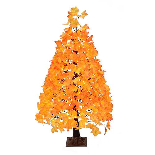 4.5' Maple Leaf Harvest Tree w/ WW LED Lights