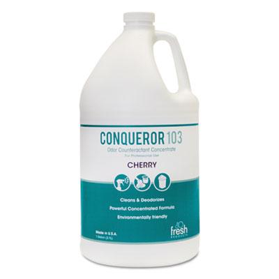 Conqueror 103 Odor Counteractant Concentrate, Cherry, 32oz Bottle, 12/Carton