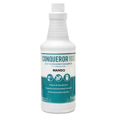 Conqueror 103 Odor Counteractant Concentrate, Mango, 32oz Bottle, 12/Carton