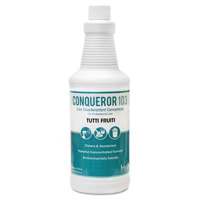 Conqueror 103 Odor Counteractant Concentrate, Tutti-Frutti, 32oz Bottle, 12/CT