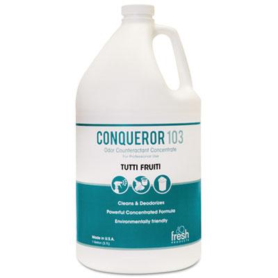 Conqueror 103 Odor Counteractant Concentrate, Tutti-Frutti, 1 gal Bottle, 4/CT
