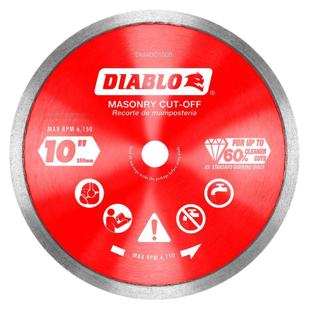 DISC CUT-OFF DMND CON RIM 10IN