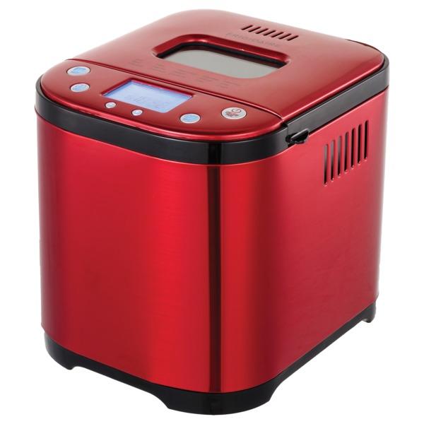 Frigidaire EBRM100-SSRED 2-Pound 710-Watt Electric Stainless Steel Bread Maker (Red)