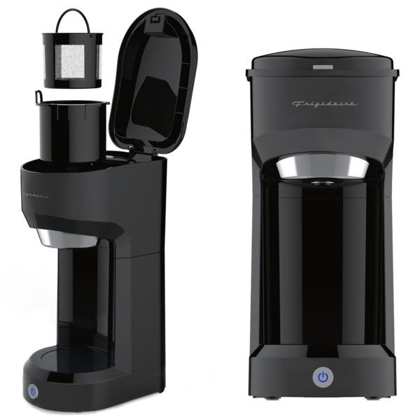 Frigidaire ECMK088-BLACK 1-Cup 700-Watt Retro Coffee Maker (Black)