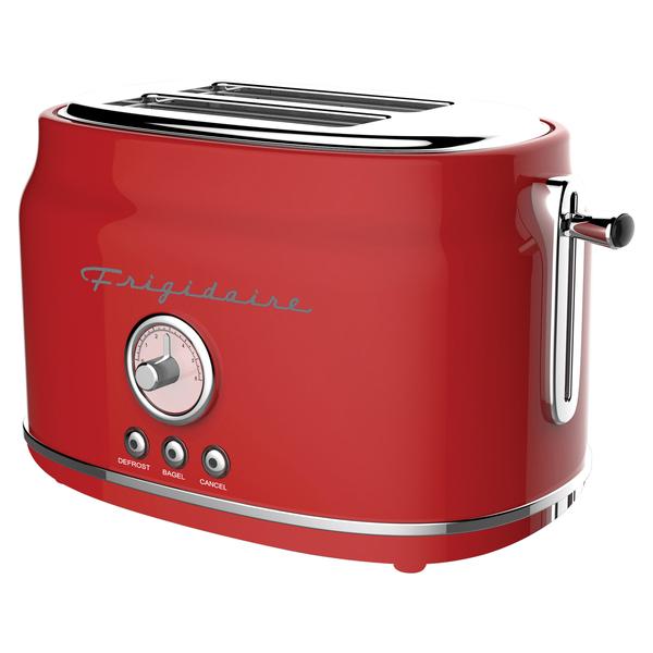Frigidaire ETO102-RED 2-Slice 900-Watt Retro Stainless Steel Toaster (Red)