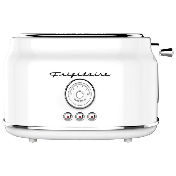 Frigidaire ETO102-WHITE 2-Slice 900-Watt Retro Stainless Steel Toaster (White)