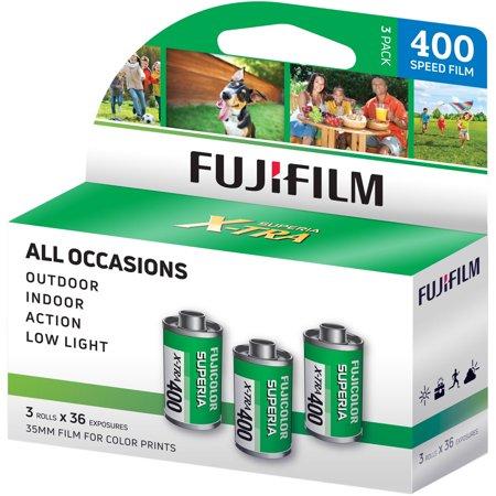 Fujifilm 600018965 Fujicolor Superia X-TRA 400 Color Negative Film (3 Pack)