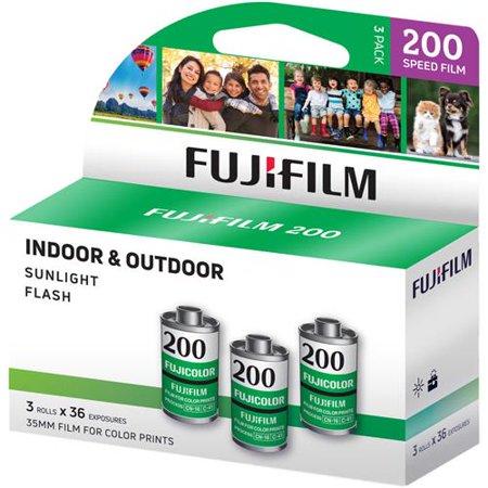 Fujifilm 600018966 Fujicolor 200 Color Negative Film, 3 Pack