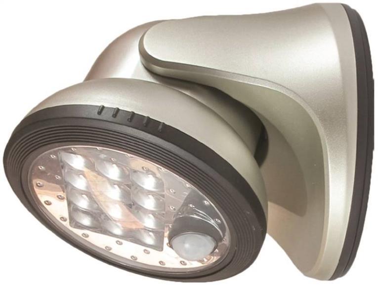 Fulcrum 20034-101 Utility Lights, Porch Light - 12 Led, Silver