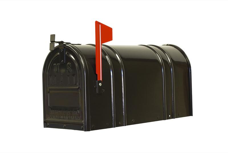 1-1/2C-BLK T2 BLACK STEEL MAILBOX