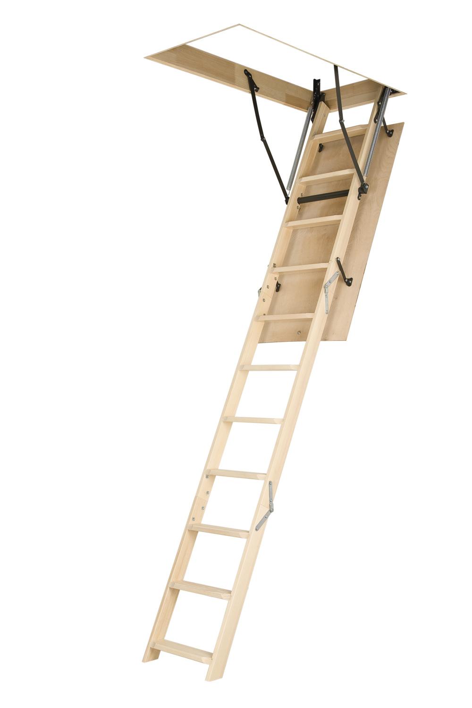 "25""x54"" Fakro Wooden Folding Ladder (LWN) Basic Attic Stair"