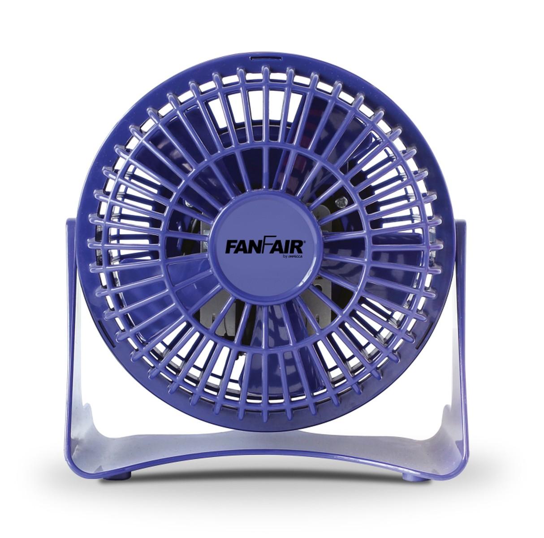 FANFAIR 4in 5-WING PERSONAL FAN - BLUE