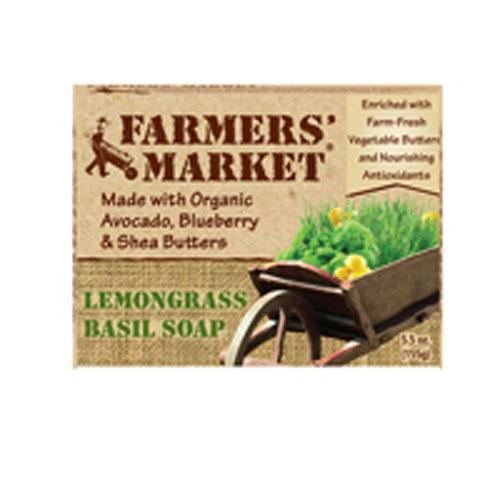 Farmer's Market Natural Bar Soap Lemongrass Basil (1x55 Oz)