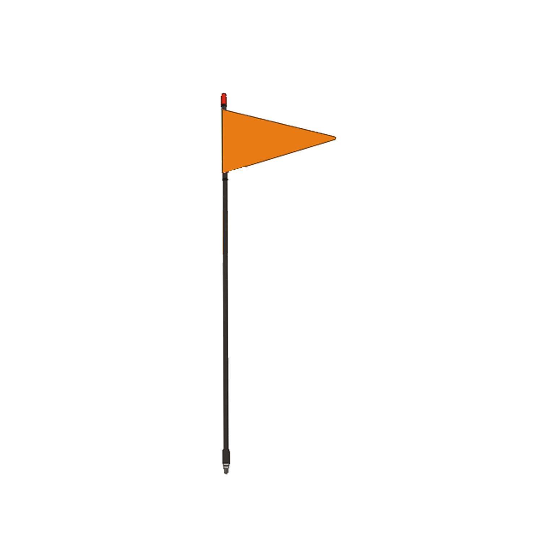 "FIRESTIK - F4-G 4 FOOT BLACK FLAGSTICK WITH ORANGE TRIANGULAR SAFETY FLAG - STANDARD 3/8""-24 BASE THREADS"