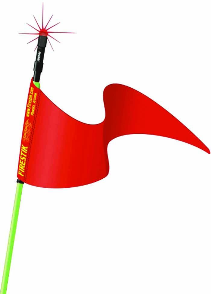 """3' GREEN STROBE READY STIK (3/8""""X24 BASE) W/FLAG"""