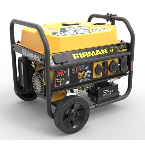 GAS POWERED 4550/3650W PORTABLE GENERATOR W/WHEEL KIT & 120/240 VOLT SELECTOR
