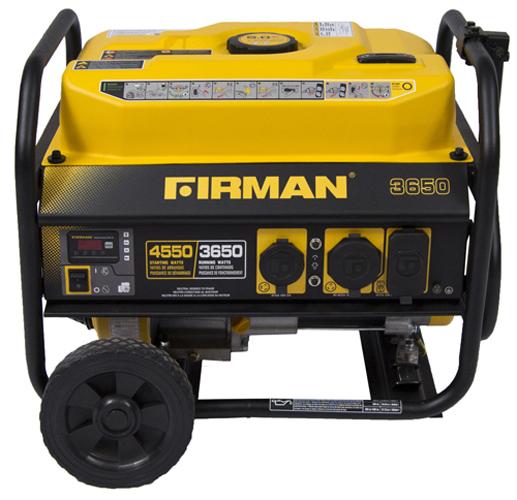 GAS POWERED 4550/3650 WATT EXTENDED RUN TIME PORTABLE GENERATOR W/WHEEL KIT