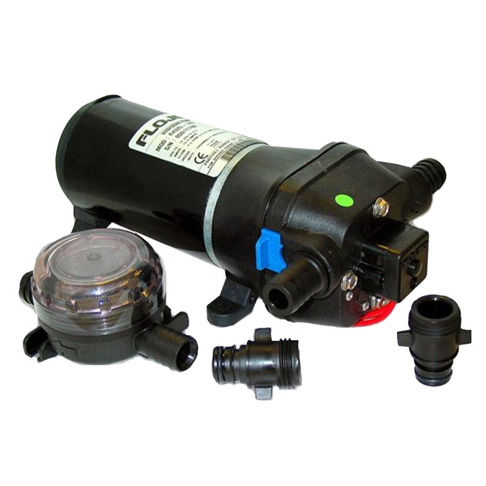 FloJet Heavy Duty Deck Wash Pump - 40psi/4.3GPM/12V w/Nozzle