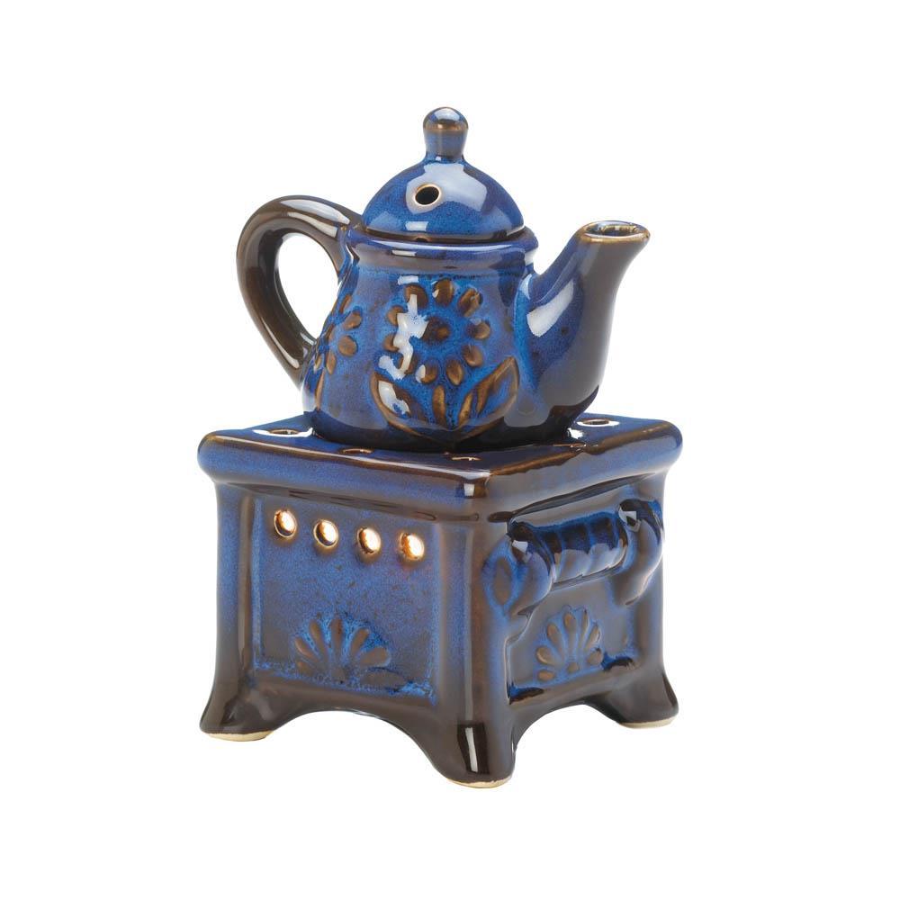 Blue Teapot Stove Oil Warmer
