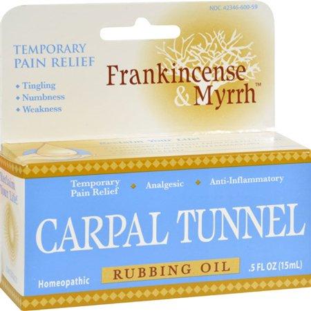 Frankincense and Myrrh Carpal Tunnel Rubbing Oil (05 fl Oz)