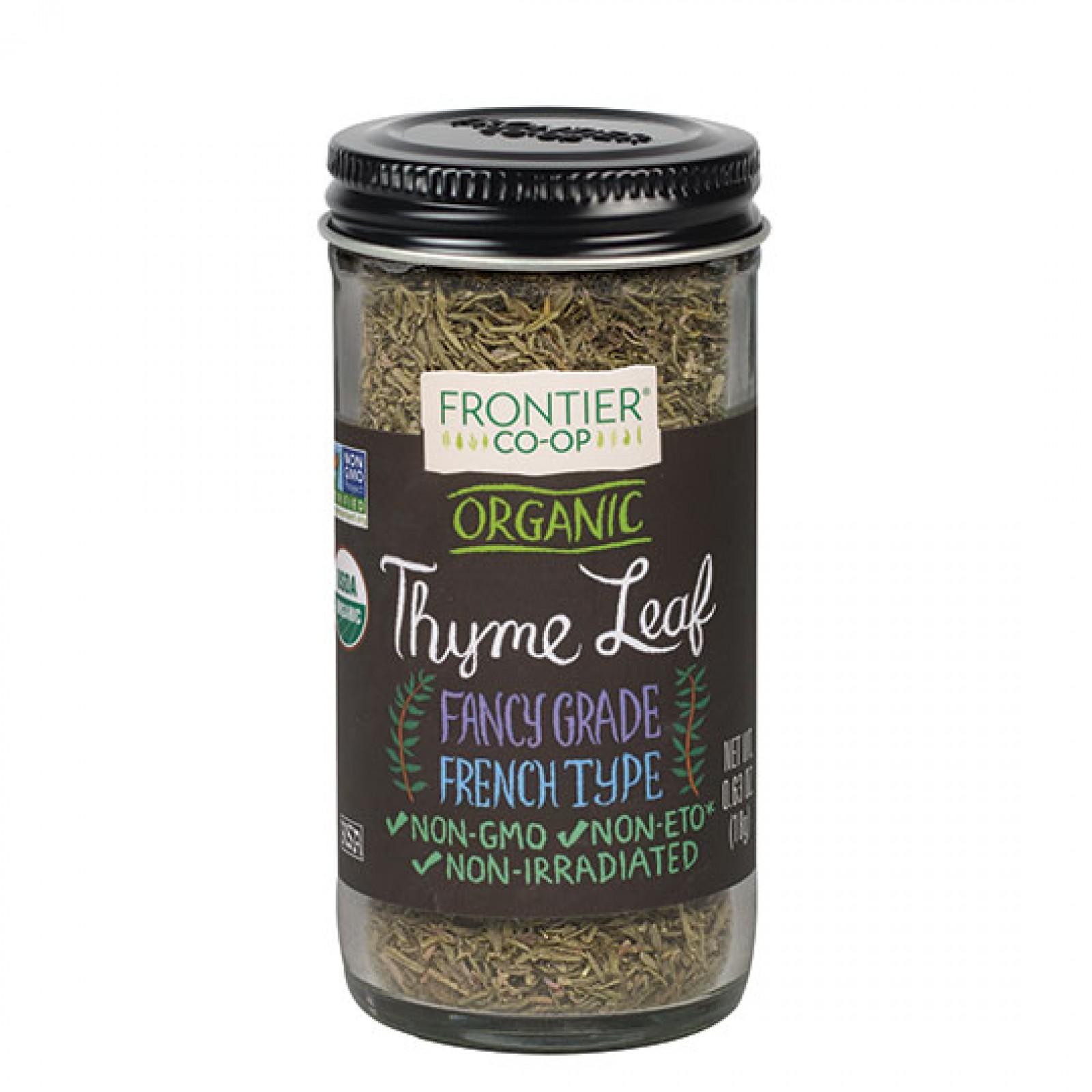 Frontier Herb Whole Organic Thyme Leaf (1x8 Oz)