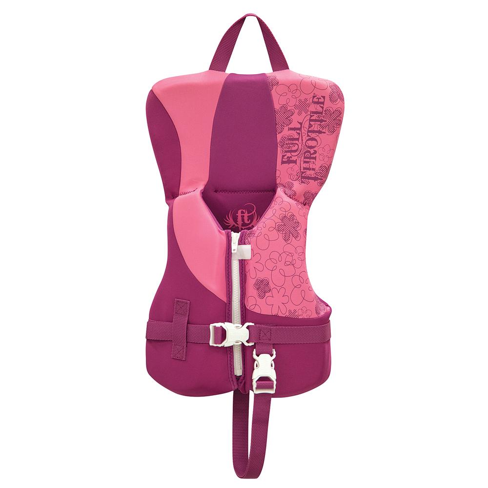 Full Throttle Rapid-Dry Life Vest - Infant Less Than 30lbs - Pink/Purple