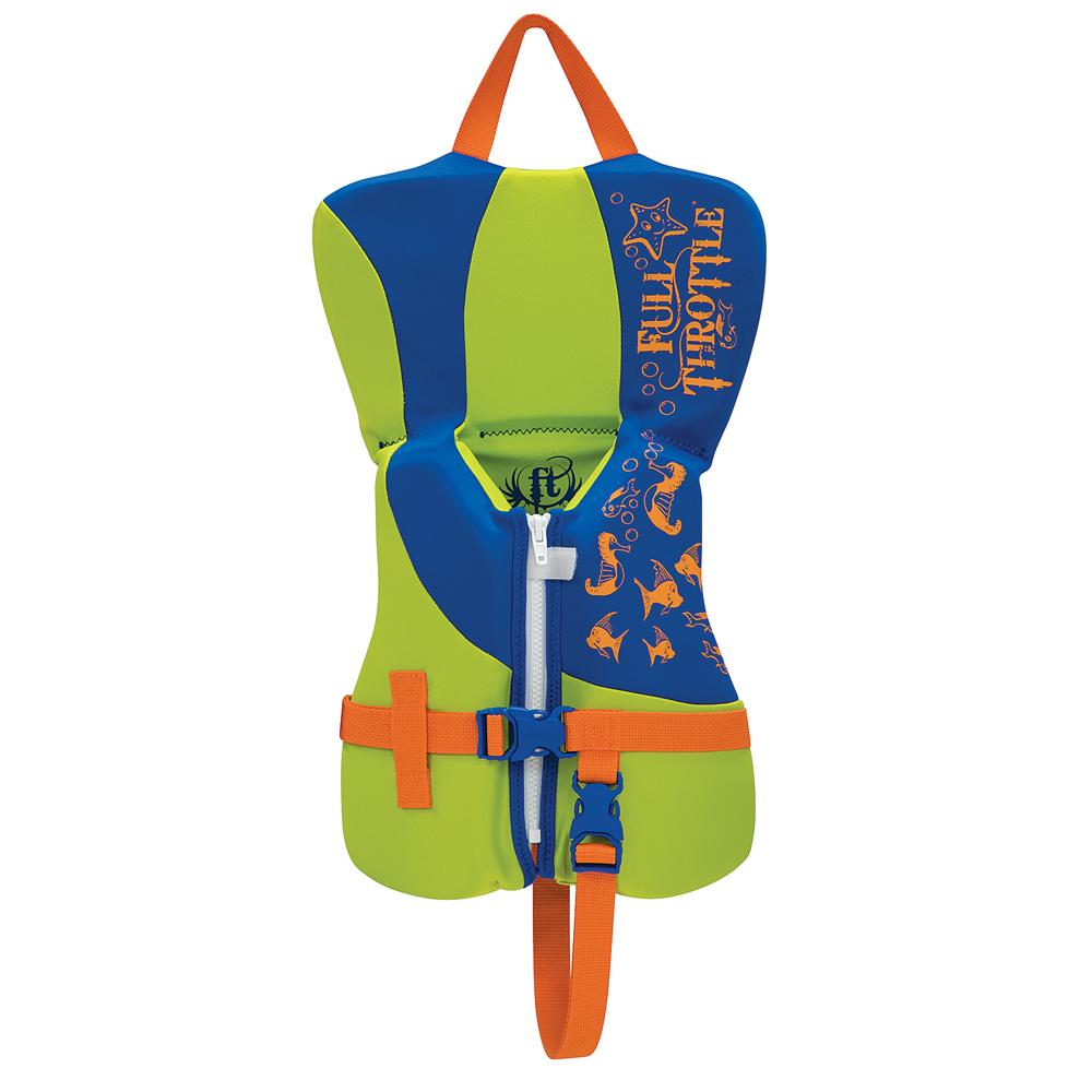 Full Throttle Rapid-Dry Life Vest - Infant Less Than 30lbs - Blue/Lime Green