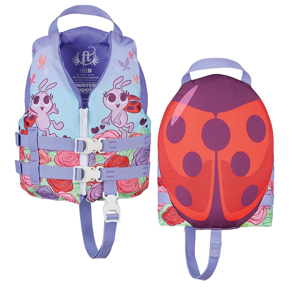 Full Throttle Water Buddies Life Vest - Child 30-50lbs - Ladybug