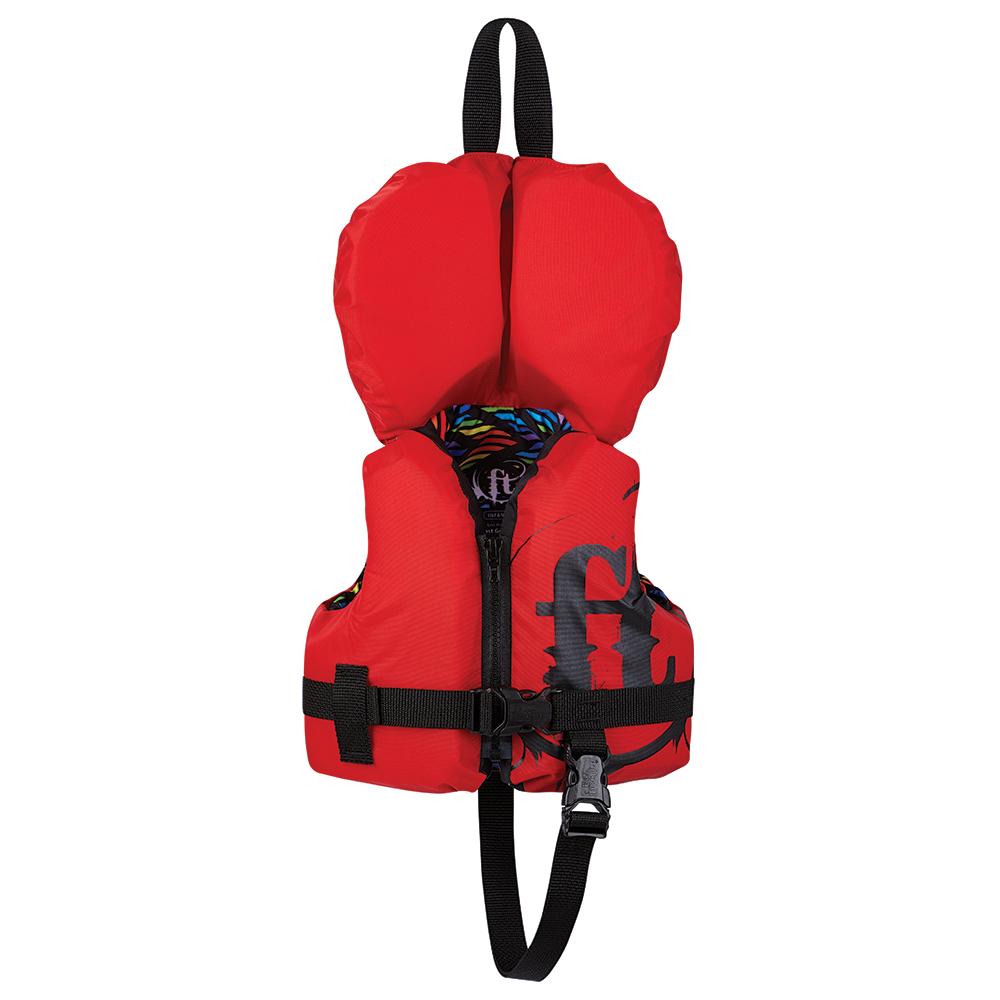 Full Throttle Infant Nylon Life Vest - Infant Less Than 30lbs - Red
