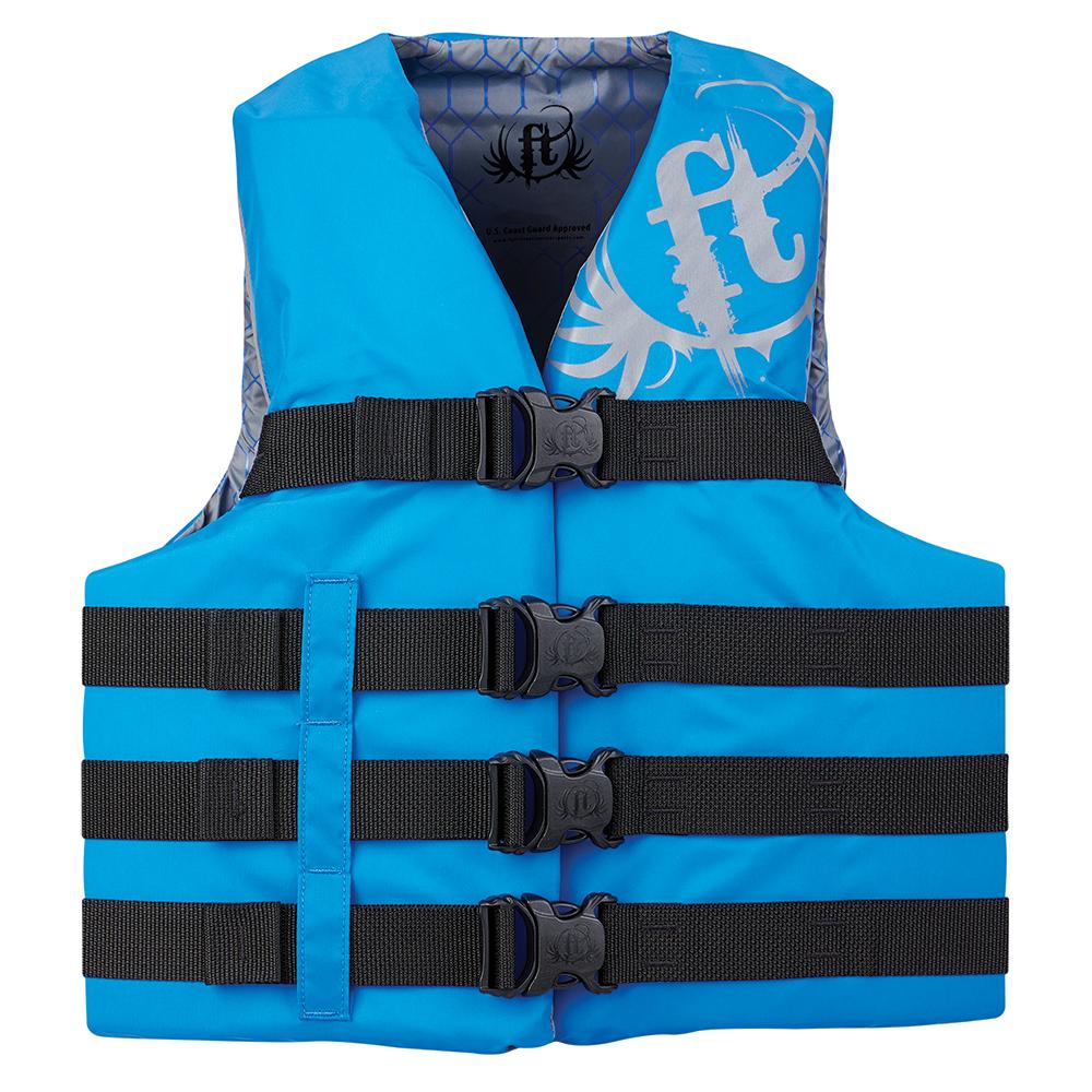 Full Throttle Teen Nylon Life Vest - 90lbs and Over - Blue