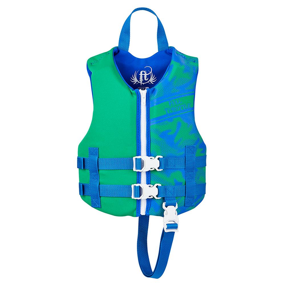 Full Throttle Rapid-Dry Life Vest - Child 30-50lbs - Blue/Green