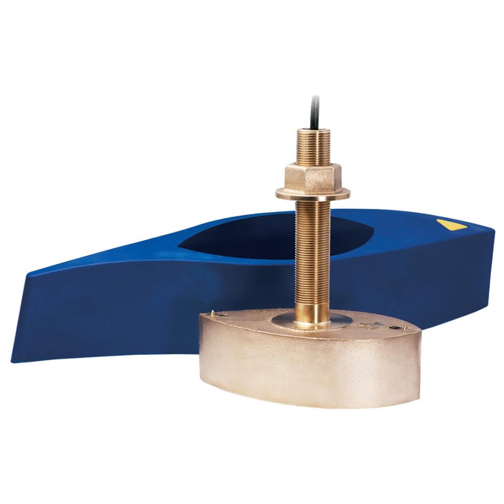 Furuno 526T-HDD Bronze Broadband Thru-Hull Transducer w/Temp, Built-In Diplexer & Hi-Speed Fairing Block 1kW (10-Pin)
