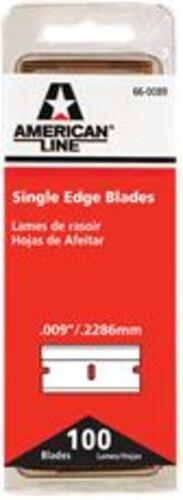 1IN #9 SINGLE EDGE BLADES (100 PIECES)