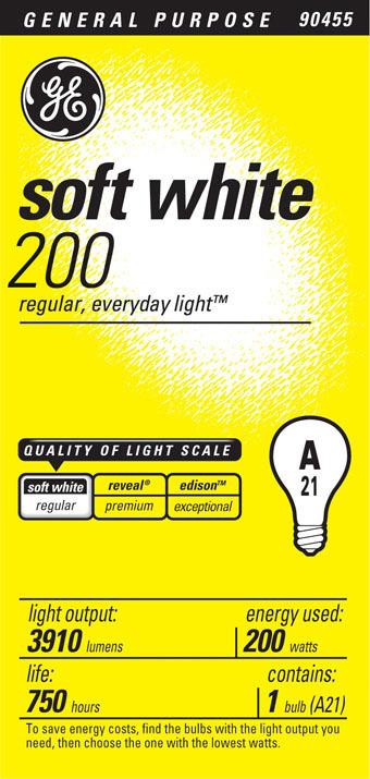 200A/W A-23 SOFT WHITE 120V BULB